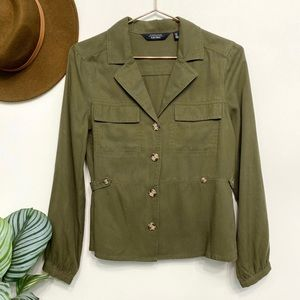 & other stories   olive green shacket lyocell 4
